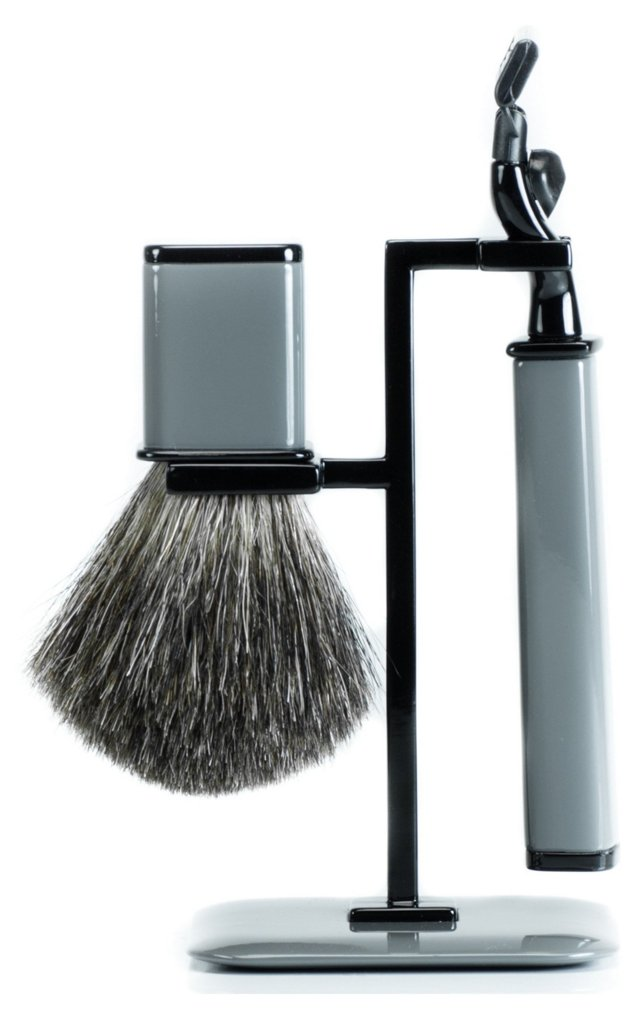 Axwell USA Shaving Set, Gray