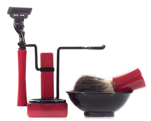 Axwell Shaving Set, Red