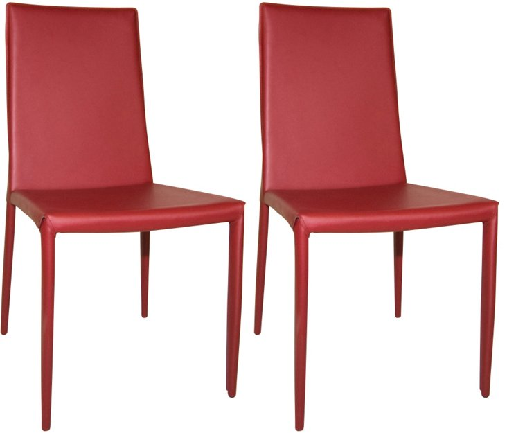 Lusso Dining Chairs, Pair