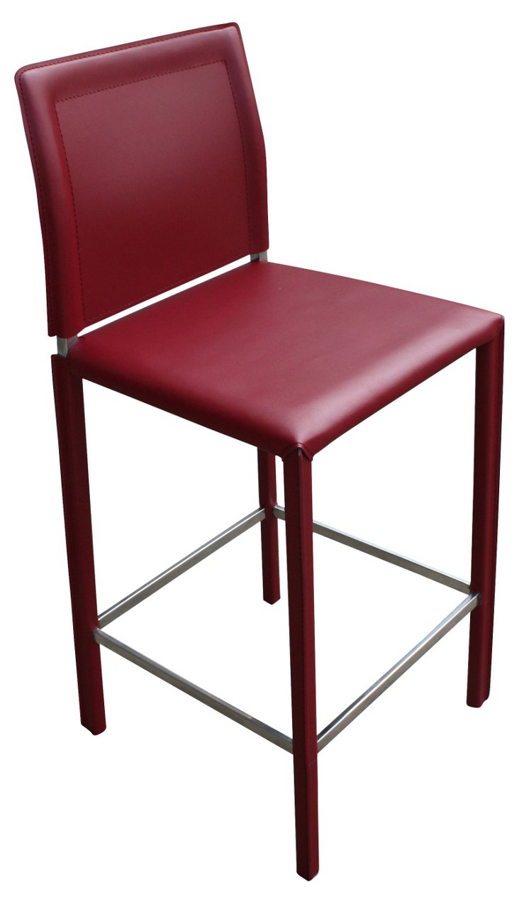 Stallo Counter Stool, Red
