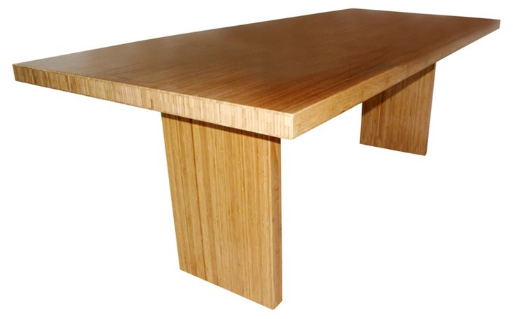 Gates Dining Table, Bamboo