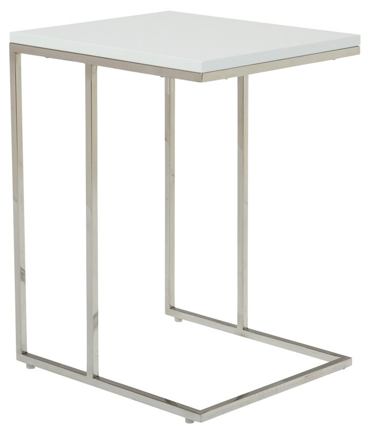 Posta Side Table, White