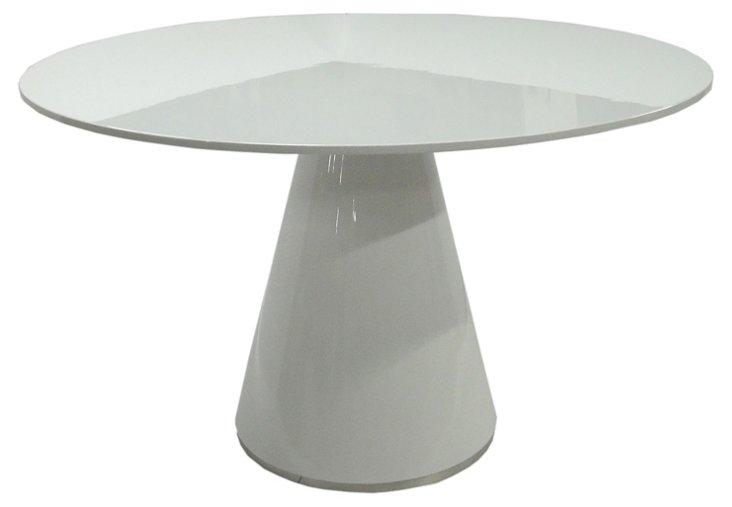 "Orla 51"" Round Dining Table, White"