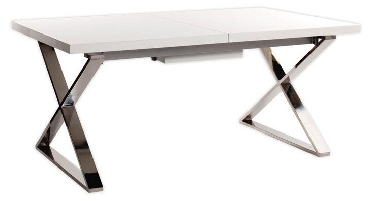 Hazel Extended Dining Table, White