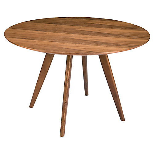 Vienna Round Dining Table, Walnut Amazing Pictures