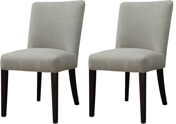 Cappuccino Pike Side Chairs, Pair