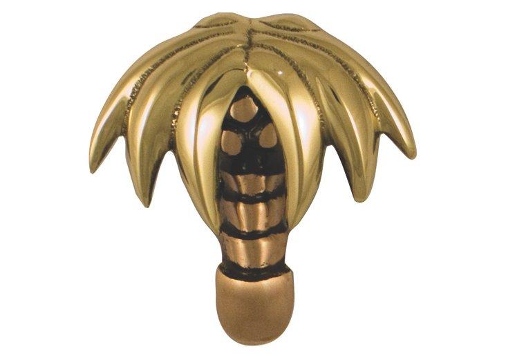 Palm Tree Doorbell Ringer, Brass