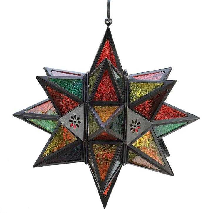 "S/4 14"" Moroccan Star Lanterns"