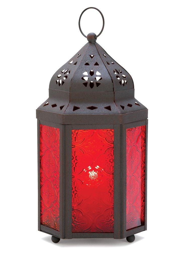 S/2 Garnet Moroccan Lanterns