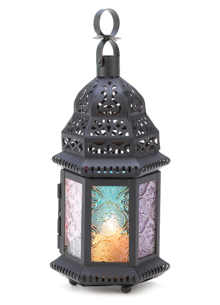 "S/2 11"" Magic Moroccan Lanterns, Multi"