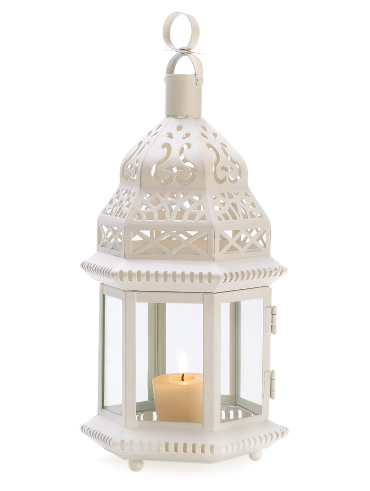 "S/2 13"" Gazebo Lanterns, White"