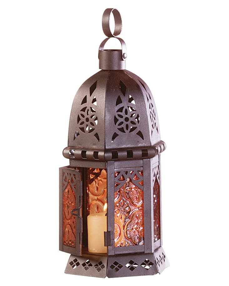 "S/4 11"" Moroccan Lanterns, Brown"