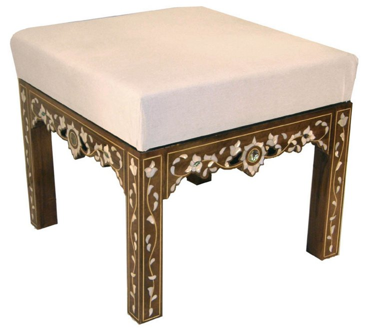 Mother-of-Pearl Ottoman