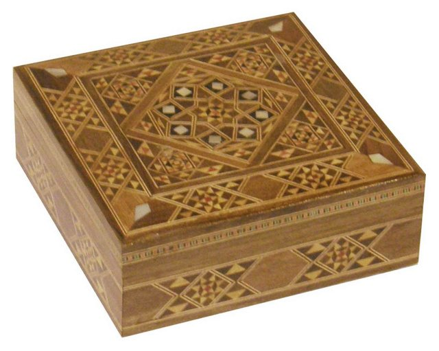 Trinket Box, Brown/Multi