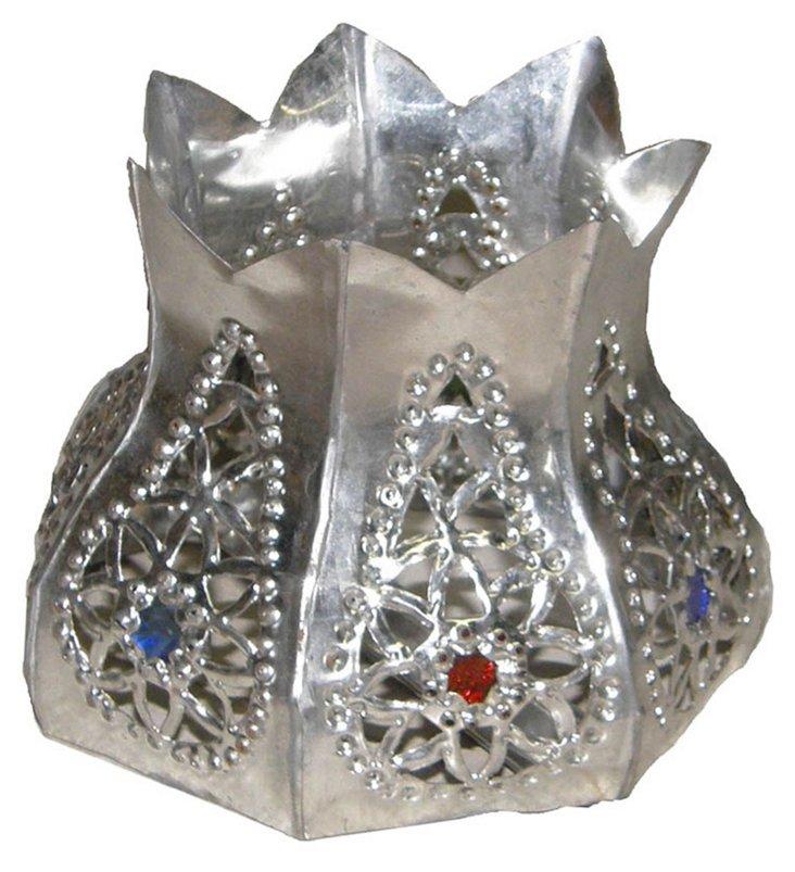 Silvered Candleholder