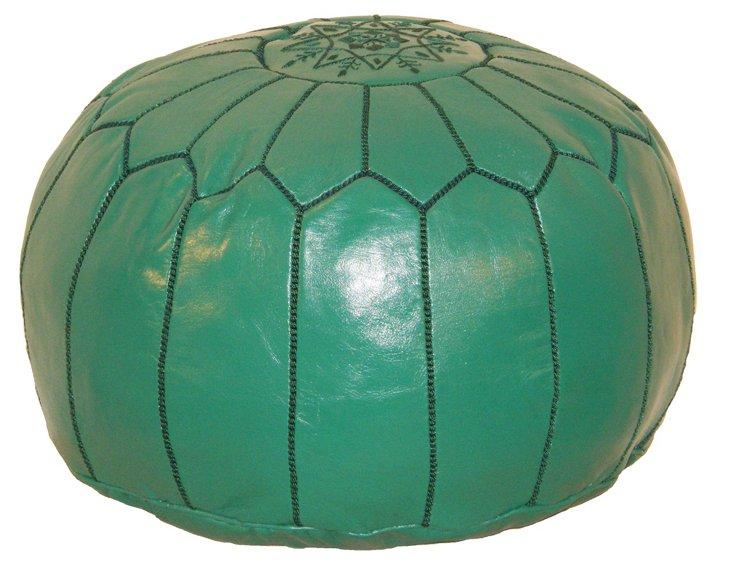 Moroccan Pouf, Green