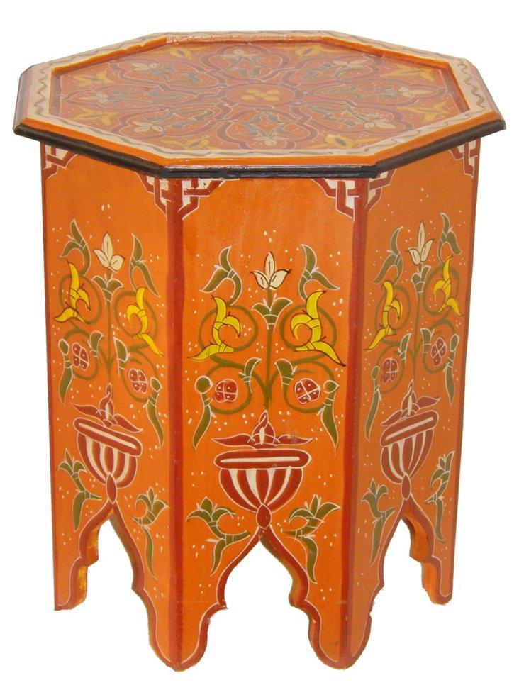 Marrakesh Side Table, Pumpkin Orange