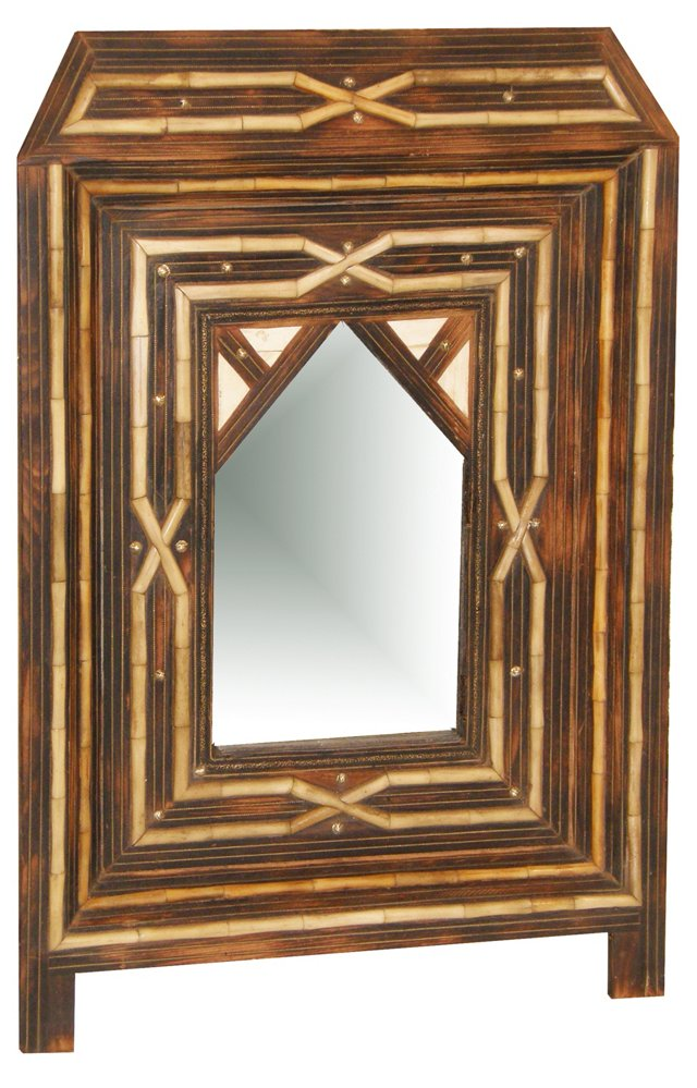Vintage Moroccan Mirror with Doors