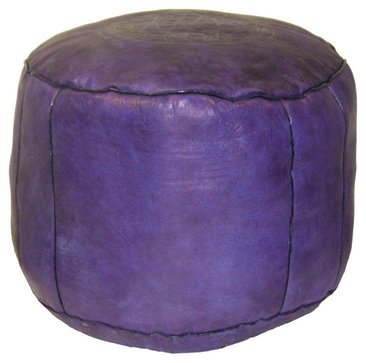 Riad Pouf, Purple
