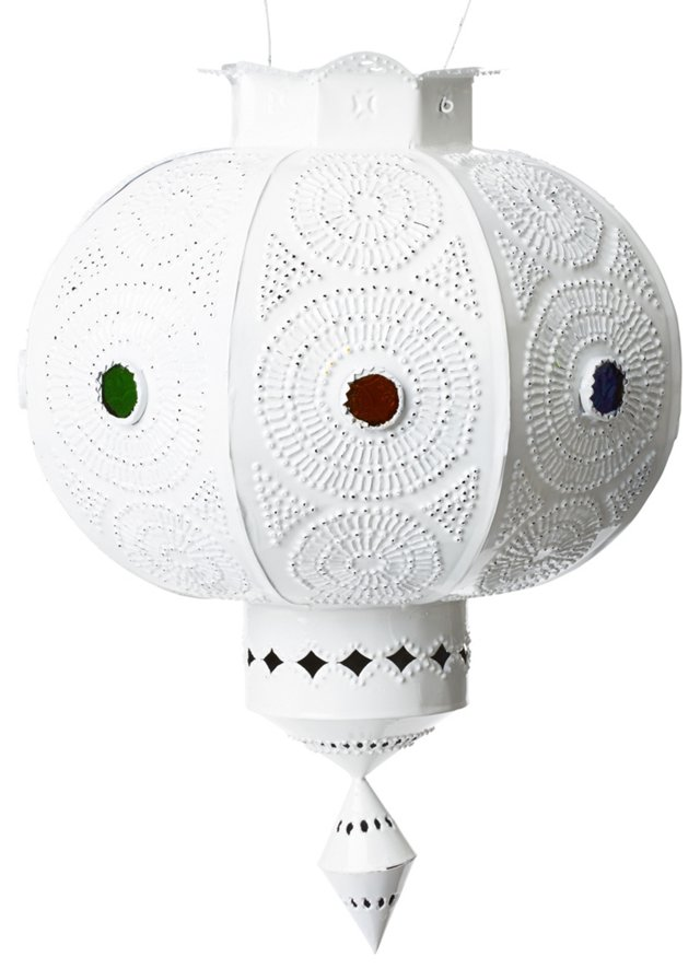 Fes Lantern, White