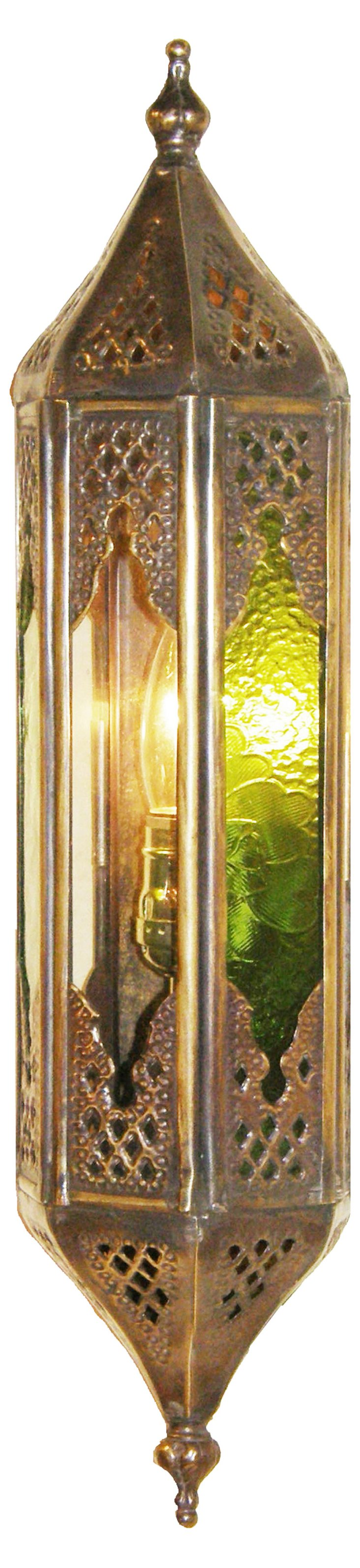 Nook 1-Light Lantern, Antiqued Brass