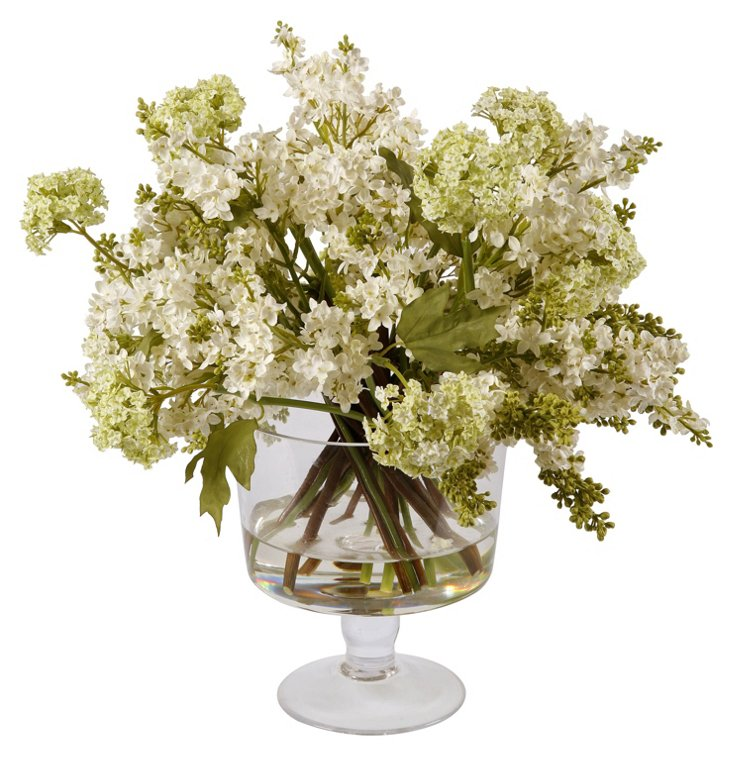 """18"""" Lilac in Vase, Faux"""