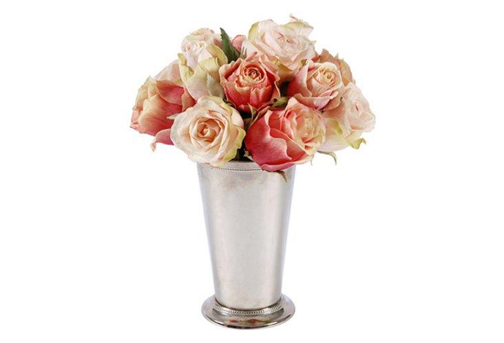 Roses in Vase, Peach