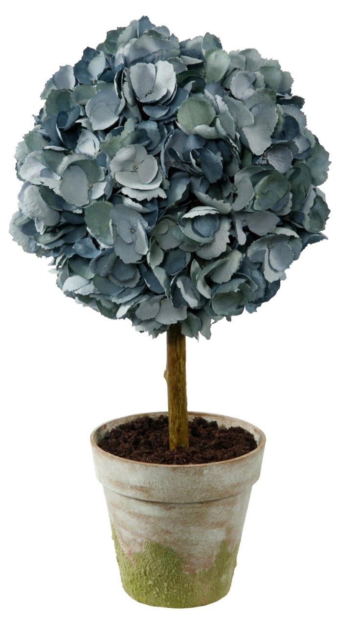 "20"" Hydrangea Topiary, Faux"