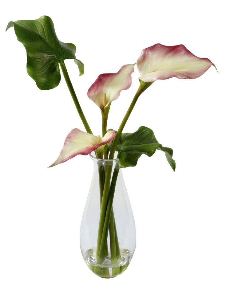 """24"""" Calla Lily in Vase, Mauve"""