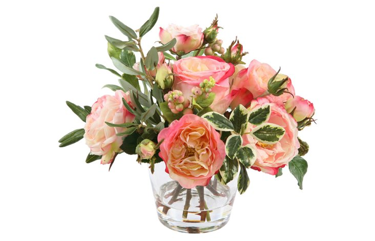 Rose in Glass, Xsmall, Pink