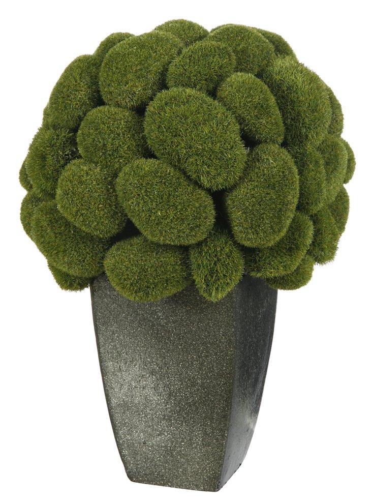 """12"""" Moss in Pot, Faux"""