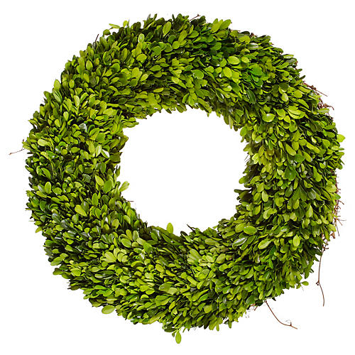 "20"" Boxwood Wreath, Dried"