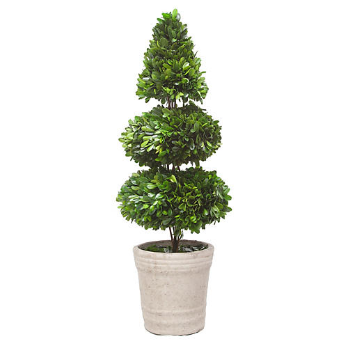 "28"" Rodeo Boxwood Topiary, Faux"