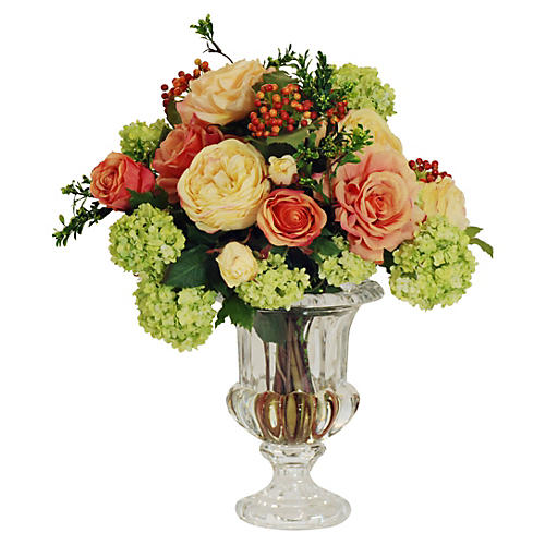 "15"" Rose Arrangement, Faux"