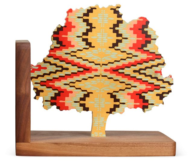 Flame-Stitch Tree Bookend