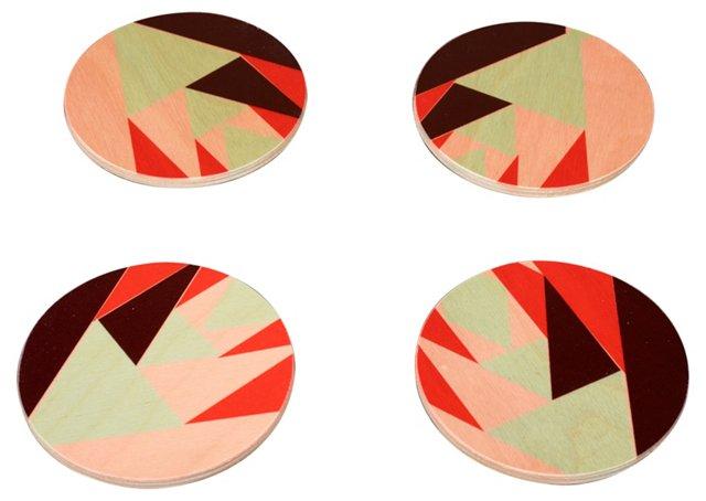 Bibi Round Coasters, Set of 4