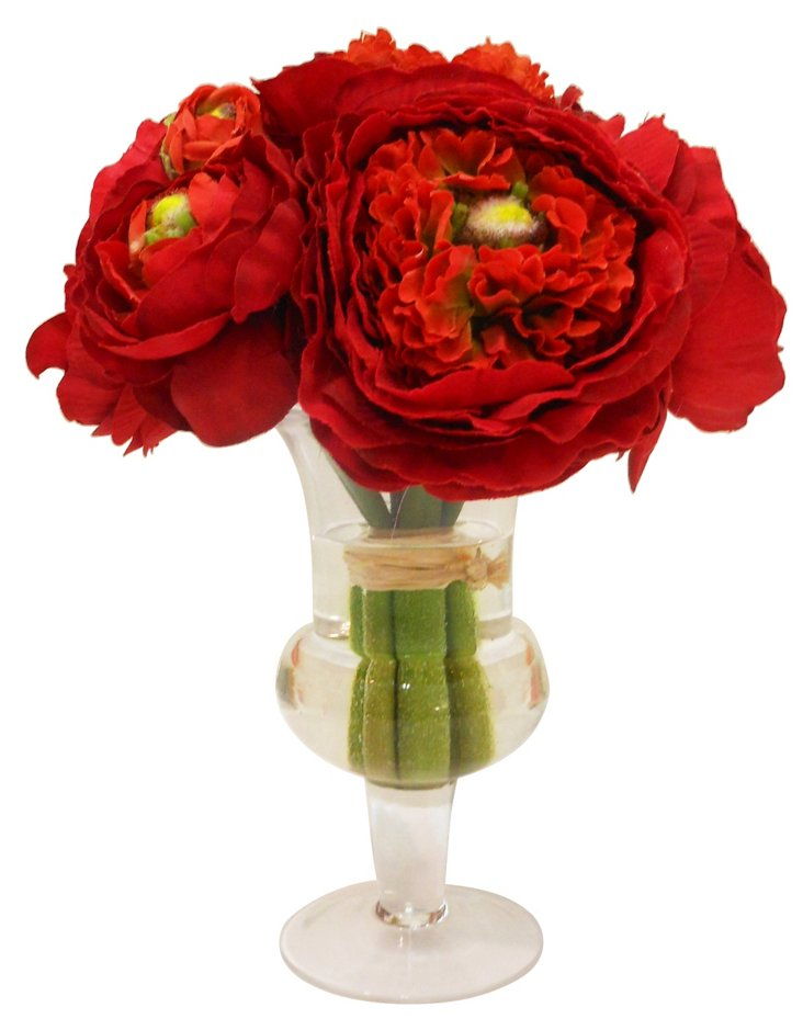 Ranunculus in Urn, Red