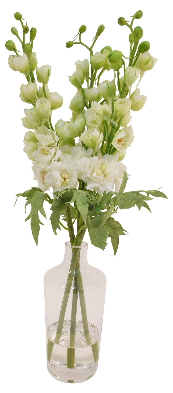 "20"" Delphinium in Rim Neck Vase, Faux"