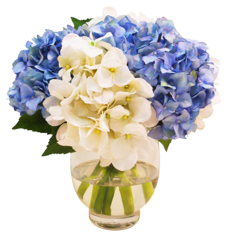 """13"""" Hydrangea in Vase, Faux"""