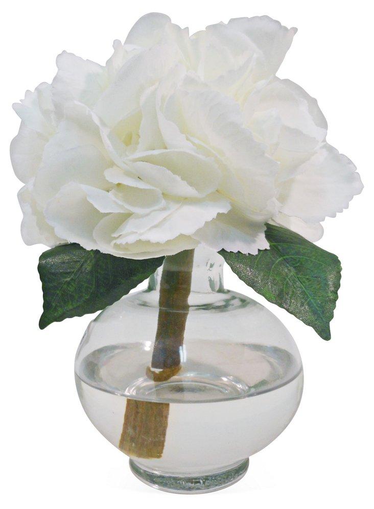"""6"""" Hydrangea in Bubble Vase, Faux"""