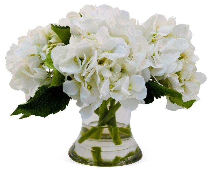 """14"""" Hydrangea in Flared Vase, Faux"""