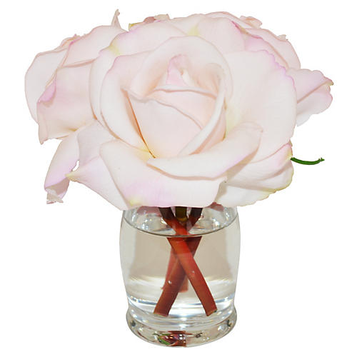 "6"" Rosebuds in Vase, Faux"