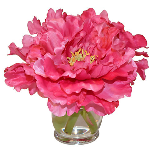 "10"" Peonies in Hourglass, Faux"