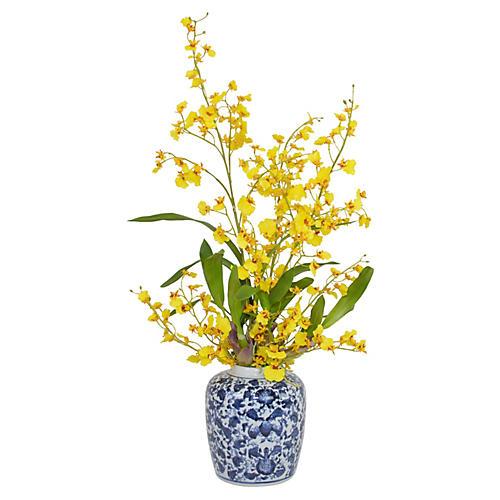"""29"""" Oncidium Orchid Arrangement, Faux"""