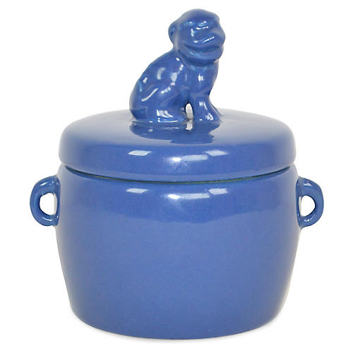 Solid Dog-Lid Candle, Orange Blossom