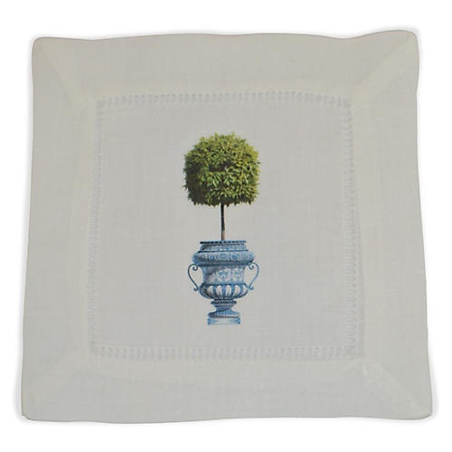 S/4 Topiary Cocktail Napkins, Green
