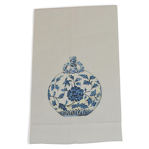 S/2 Jar Guest Towels, Blue
