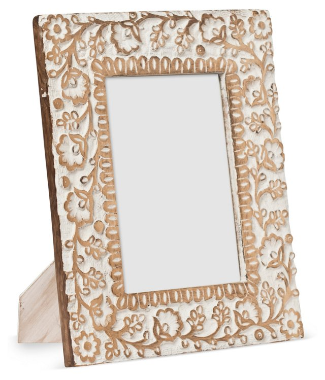 5x7 Carved Wooden Frame, Gold