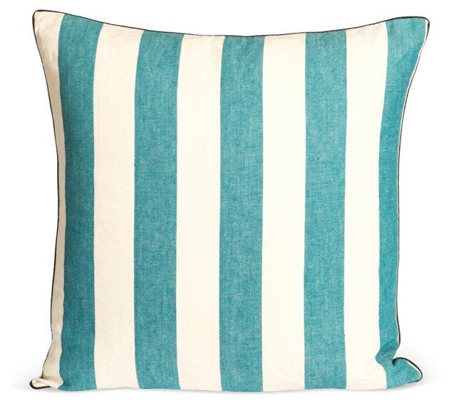Azure Cabana Euro Floor Pillow