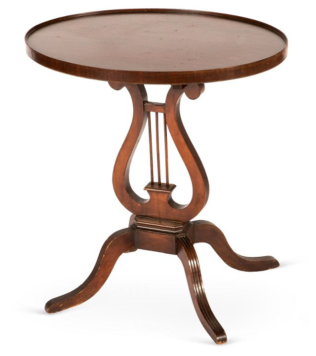 Antique Round Mahogany Side Table